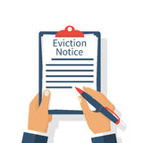 Eviction Notice Form Royalty Free Stock Photography