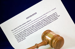 Eviction notice and gavel Stock Images