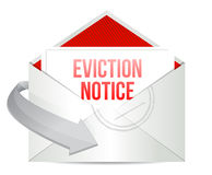 Eviction notice mail or email illustration design. Over white Stock Image