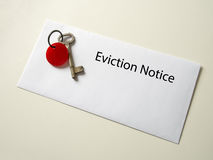 Eviction notice. Royalty Free Stock Photography