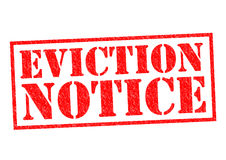 EVICTION NOTICE Stock Photos