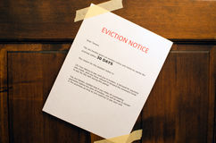 Eviction Notice Stock Photography