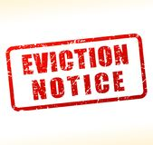 Eviction notice text buffered. Illustration of eviction notice text buffered on white background Royalty Free Stock Photography