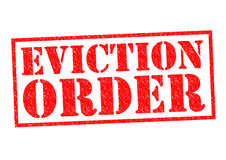 EVICTION ORDER Stock Image