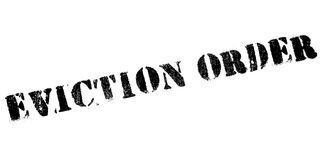 Eviction Order rubber stamp. Grunge design with dust scratches. Effects can be easily removed for a clean, crisp look. Color is easily changed Royalty Free Stock Photos