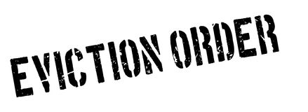Eviction order rubber stamp Stock Photography