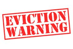 EVICTION WARNING Rubber Stamp. EVICTION WARNING red Rubber Stamp over a white background Royalty Free Stock Photos
