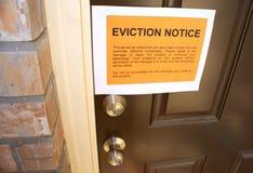 Evictionmeddelande Arkivfoton