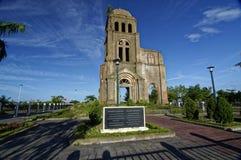 Evidência da guerra de Tam Toa Church Steeple, Vietname - 2014-Sep Fotografia de Stock Royalty Free