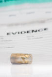 Evidence bag Royalty Free Stock Photo