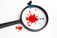 Evidence Concept Background. Use For Crime Concept stock photo