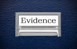Evidence File Drawer Stock Photo