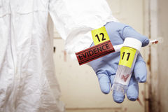 Evidence in hands Royalty Free Stock Image