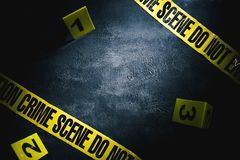 Evidence markers with dramatic lighting Royalty Free Stock Image