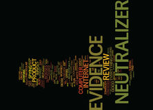 Evidence Neutralizer Review Good Or Bad Text Background  Word Cloud Concept. EVIDENCE NEUTRALIZER REVIEW GOOD OR BAD Text Background Word Cloud Concept Royalty Free Stock Photography