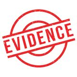 Evidence rubber stamp. Grunge design with dust scratches. Effects can be easily removed for a clean, crisp look. Color is easily changed Royalty Free Stock Images