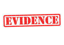 EVIDENCE. Rubber Stamp over a white background Royalty Free Stock Photo