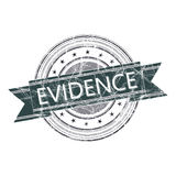 Evidence stamp. Evidence grunge rubber stamp on white Royalty Free Stock Images
