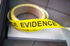 Evidence tape Royalty Free Stock Photos