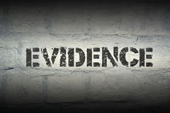 Evidence word gr Royalty Free Stock Photos