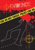 Evidencia de la escena del crimen ilustración del vector
