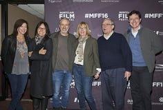 Evie Colbert, Tracey Stewart, Jon Stewart, Chris Hegedus, D A Pennebaker, en Stephen Colbert Stock Afbeeldingen