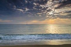 Evighet på bulgarisk sandig kust arkivfoto