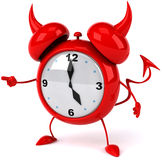 Evil alarm clock Stock Image