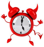 Evil alarm clock Stock Photos