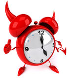 Evil alarm clock Royalty Free Stock Photography