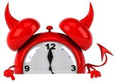 Evil alarm clock Royalty Free Stock Photo