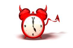 Evil alarm clock Royalty Free Stock Images