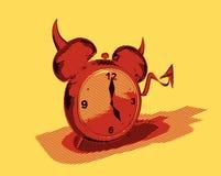 Evil alarm clock Stock Images
