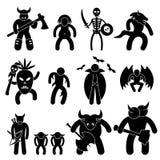 Evil Ancient Warrior Character. A set of pictogram representing ancient warrior character for evil alliance vector illustration