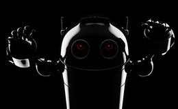Evil angry robot Stock Photos
