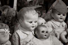 Evil baby doll Stock Images