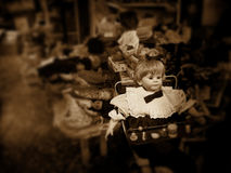 Evil baby doll Royalty Free Stock Images