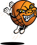 Evil basketball guy. A evil basketball's doing a basketball move Royalty Free Stock Photography