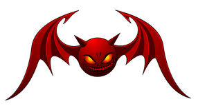 Evil Bat. Red Evil Bat - isolated on white. Additional vector format in EPS (v.8 Stock Images