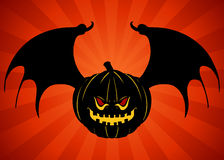 Evil Bat Pumpkin Royalty Free Stock Images