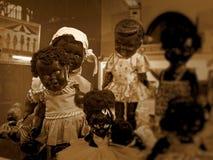 Evil black babies dolls Royalty Free Stock Image