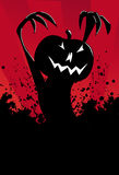Evil black pumpkin Stock Photos