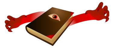 Evil book royalty free illustration