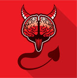 Evil Brain Vector Art Royalty Free Stock Photo