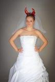 Evil Bride Stock Images