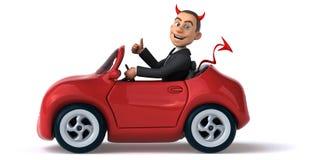 Evil businessman Stock Image