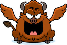 Evil Cartoon Buffalo Wings Royalty Free Stock Image