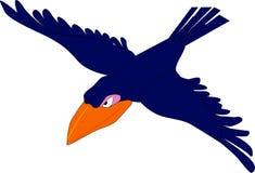 Evil cartoon crow. Vector clip art illustration with simple Royalty Free Stock Photos