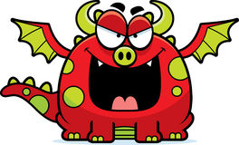 Evil Cartoon Dragon Royalty Free Stock Photos