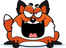 Evil Cartoon Fox Royalty Free Stock Photo